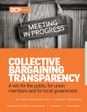 Better Cities Project Collective Bargaining Transparency report